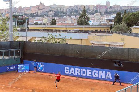 Editorial photo of 2021 Sardegna Open, ATP Tour 250, Tennis, Tennis Club Cagliari, Cagliari, Italy - 06 Apr 2021
