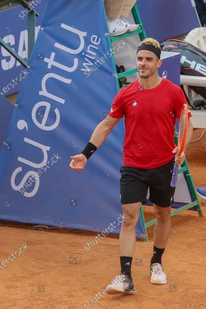 Stock Picture of Thomas Fabbiano in action during the ATP Tour 250 Sardegna Open tennis match in Cagliari, Italy on April 06, 2021.