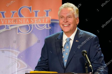 Democratic candidate for Governor of Virginia, former Gov. Terry McAuliffe prepare for a debate at Virginia Sate University in Petersburg, Va
