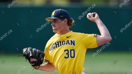 Michigan's Jack White during an NCAA baseball game, in College Park, Md