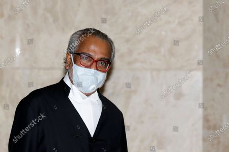 Muhammad Shafee Abdullah, lawyer for Malaysia's former prime minister Najib Razak, at the Court of Appeal in Putrajaya, Malaysia, 07 April 2021. Malaysia's Court of Appeal continues hearing a bid by Najib to set aside his conviction on corruption charges in a case linked to a multibillion-dollar scandal at state fund 1Malaysia Development Berhad (1MDB).