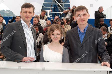 Viktor Nemets, Director Sergei Loznitsa and Olga Shuvalova