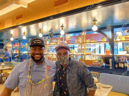 Chef Marcus Samuelsson and Chef Tristen Epps at his new restaurant Red Rooster Overtown