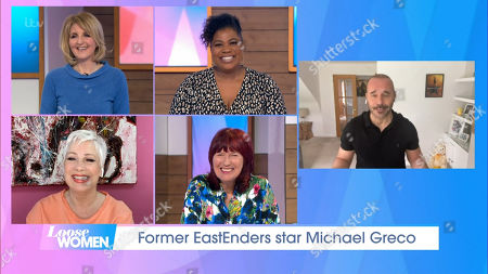 Stock Image of Kaye Adams, Brenda Edwards, Denise Welch, Janet Street-Porter and Michael Greco