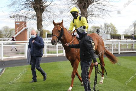 BATRAAN (9) ridden by Gavin Ashton and trained by Roger Varian winning the Mansionbet Watch And Bet Handicap over 5f  at Nottingham Racecourse, Nottingham