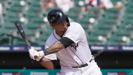 Detroit Tigers' Wilson Ramos plays during a baseball game, in Detroit