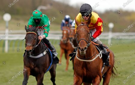 Stock Image of SIR RON PRIESTLEY (Franny Norton) wins The Mansionbet Barry Hill Further Flight Stakes Nottingham