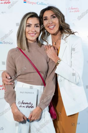 "Paz Padilla and Anna Ferrer seen seen during the book presentation of ""Humor de mi vida"" in Madrid."