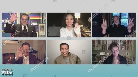 Scott Feinberg with Chloe Zhao, David Fincher, Lee Isaac Chung, and Thomas Vinterberg