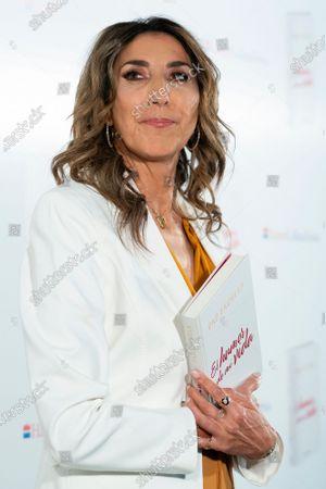 Stock Image of Paz Padilla during the presentation of book Humor de mi vida in Madrid, Spain, on April 7, 2021.