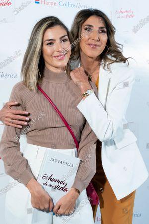 Paz Padilla and Anna Ferrer during the presentation of book Humor de mi vida in Madrid, Spain, on April 7, 2021.