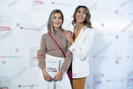 Stock Photo of Paz Padilla and Anna Ferrer during the presentation of book Humor de mi vida in Madrid, Spain, on April 7, 2021.