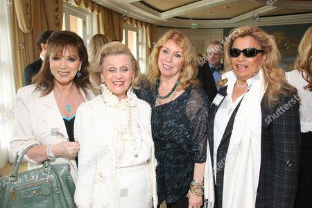 Jackie Collins, Barbara Davis, Joanna Poitier and Suzanne De Passe