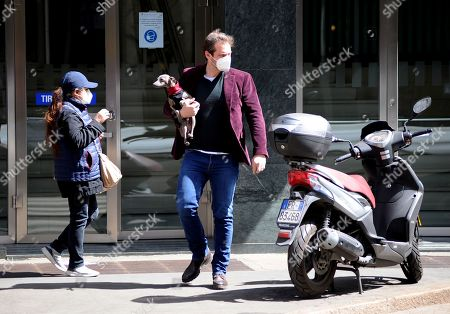 Editorial photo of Tomaso Trussardi out and about, Milan, Italy - 07 Apr 2021