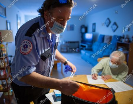 Editorial photo of Last Mile Vaccine Delivery for home bound residents of Leominster Massachusetts, USA - 07 Apr 2021