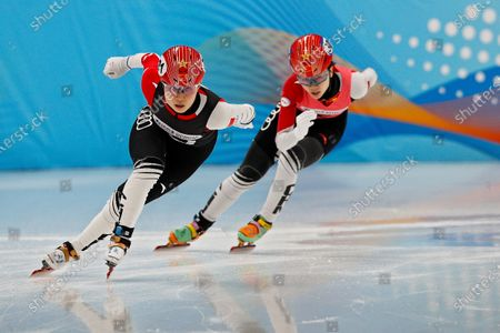 Chinese skaters compete in the women's 500 meters short track speed skating race during a test event for the 2022 Beijing Winter Olympics at the Capital Indoor Stadium in Beijing, . The organizers of the 2022 Beijing Winter Olympics has started 10 days of testing for several sport events in five different indoor venues from April 1-10, becoming the first city to hold both the Winter and Summer Olympics