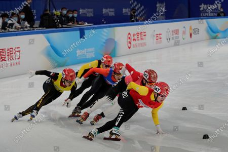 Chinese skaters compete in the men's 1000 meters short track speed skating race during a test event for the 2022 Beijing Winter Olympics at the Capital Indoor Stadium in Beijing, . The organizers of the 2022 Beijing Winter Olympics has started 10 days of testing for several sport events in five different indoor venues from April 1-10, becoming the first city to hold both the Winter and Summer Olympics