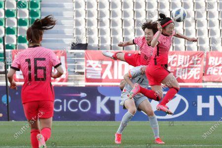 Editorial image of China Tokyo Olympics Soccer, Goyang, South Korea - 08 Apr 2021