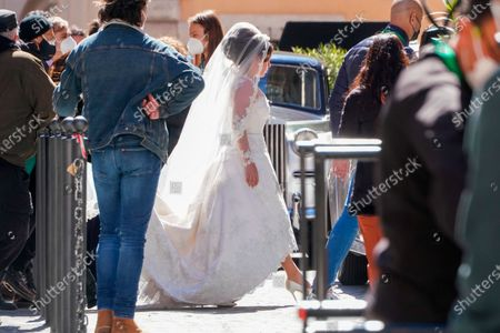 Lady Gaga plays Maurizio Gucci's former wife Patrizia Reggiani during the shooting of a movie by Ridley Scott, based on the story of the murder of Maurizio Gucci in 1995, in Rome