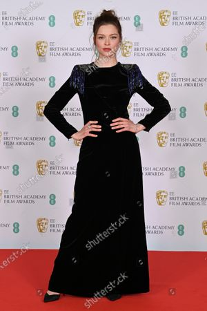 Editorial image of 74th British Academy Film Awards, Arrivals, Royal Albert Hall, London, UK - 11 Apr 2021