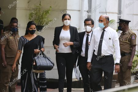 Editorial image of Mrs World Caroline Jurie arrested by the police in Sri Lanka, Colombo - 08 Apr 2021
