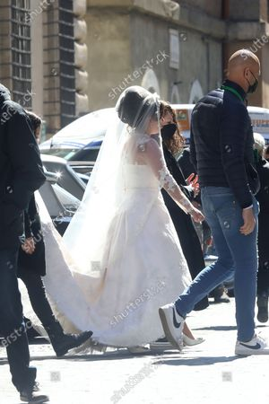 Lady Gaga in a wedding dress