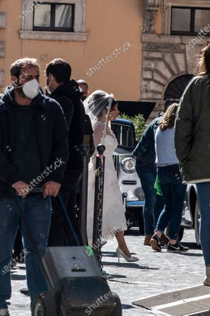 Editorial image of 'House of Gucci' on set filming, Rome, Italy - 08 Apr 2021