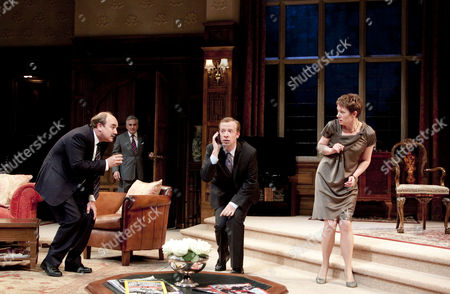 'Yes, Prime Minister' - David Haig (Jim Hacker, Prime Minister), Henry Goodman (Sir Humphrey Appleby), Jonathan Slinger (Bernard Woolley), Emily Joyce (Claire Sutton)