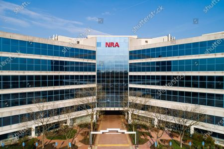 Stock Picture of An image made with a drone shows the NRA (National Rifle Association) headquarters in Fairfax, Virginia, USA, 08 April 2021. US President Biden is unveiling six executive actions on gun control, and announcing his nomination of gun control advocate David Chipman to lead the Bureau of Alcohol, Tobacco, Firearms and Explosives (ATF). On 07 April, NRA executive vice president Wayne Lapierre acknowledged not telling some top NRA officials about filing for bankruptcy.