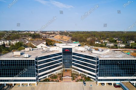 An image made with a drone shows the NRA (National Rifle Association) headquarters in Fairfax, Virginia, USA, 08 April 2021. US President Biden is unveiling six executive actions on gun control, and announcing his nomination of gun control advocate David Chipman to lead the Bureau of Alcohol, Tobacco, Firearms and Explosives (ATF). On 07 April, NRA executive vice president Wayne Lapierre acknowledged not telling some top NRA officials about filing for bankruptcy.