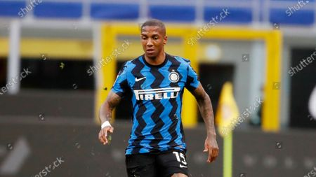Stock Picture of Inter Milan's Ashley Young controls the ball during the Serie A soccer match between Inter Milan and Sassuolo at the San Siro Stadium, in Milan, Italy