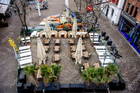 Editorial image of Outdoor dining preparations, The Hague, The Netherlands - 08 Apr 2021