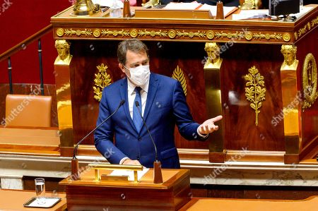 Editorial picture of Olivier Falorni presents his proposed law for a free and chosen end of life, Paris, France - 08 Apr 2021