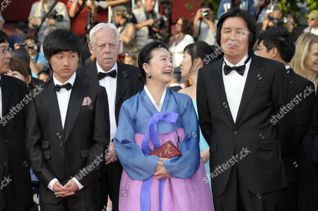 Stock Photo of Lee David, Yun Jung Hee, Lee Changdong the director