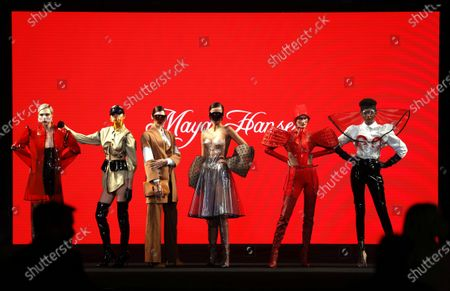 Models present creations from the Fall-Winter 2021/2022 collection of Maya Hansen fashion house during a show on the opening day of the 73rd Mercedes-Benz Fashion Week Madrid, in Madrid, Spain, 08 April 2021. The fashion event runs from 08 to 11 April. Editors' Picks