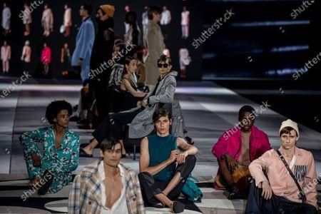 Editorial image of Virus Outbreak Fashion Week, Madrid, Spain - 08 Apr 2021