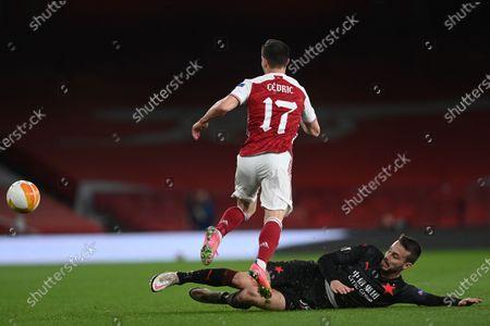 Editorial photo of Arsenal London vs Slavia Prague, United Kingdom - 08 Apr 2021