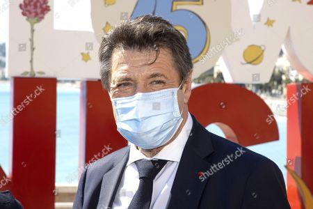 Stock Image of Christian Estrosi (Mayor of Nice, President of the Metropole Nice Cote d'Azur, President delegue de la Region Provence-Alpes-Cote d'Azur)