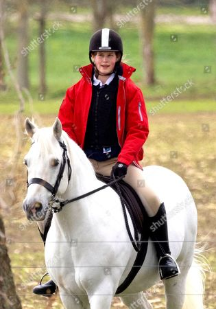 Lady Louise Windsor heads out for Early Morning ride, Windsor