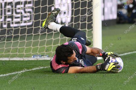Gianluigi Buffon (Juventus FC) saved the ball during warm-up