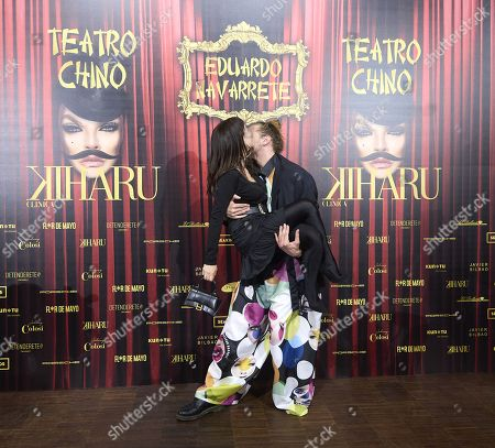 Maria Escote, Eduardo Navarrete attends 'Teatro Chino' fashion Show photocall at Florida Retiro Theater on April 8, 2021 in Madrid, Spain