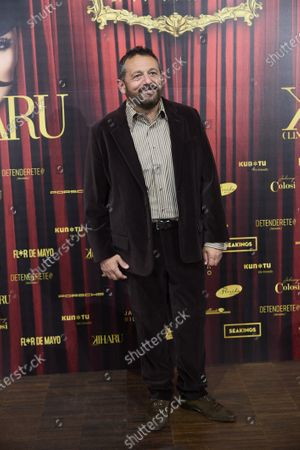 Pepon Nieto attends 'Teatro Chino' fashion Show photocall at Florida Retiro Theater on April 8, 2021 in Madrid, Spain