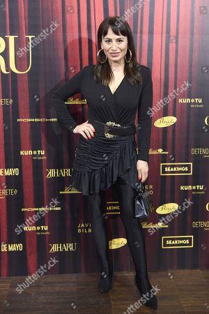 Maria Escote attends 'Teatro Chino' fashion Show photocall at Florida Retiro Theater on April 8, 2021 in Madrid, Spain