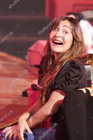 Stock Picture of Candela Pena during 'Teatro Chino' fashion Show at Florida Retiro Theater on April 8, 2021 in Madrid, Spain