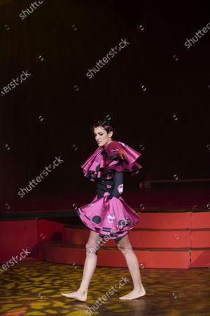 Blanca Romero during 'Teatro Chino' fashion Show at Florida Retiro Theater on April 8, 2021 in Madrid, Spain