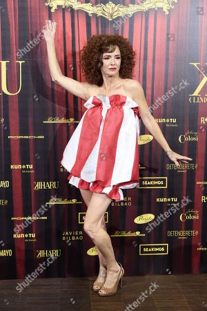 Marta Belenguer attends 'Teatro Chino' fashion Show photocall at Florida Retiro Theater on April 8, 2021 in Madrid, Spain