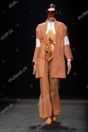 Editorial image of Maya Hansen show, Runway, Fall Winter 2021/22, Mercedes Benz Fashion Week, Madrid, Spain - 08 Apr 2021