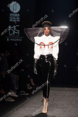 Editorial photo of Maya Hansen show, Runway, Fall Winter 2021/22, Mercedes Benz Fashion Week, Madrid, Spain - 08 Apr 2021