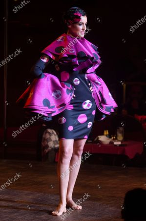 Blanca Romero on the catwalk