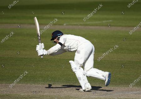 Rob Jones of Lancashire on his way to his half century; Emirates Old Trafford, Manchester, Lancashire, England; English County Cricket, Lancashire versus Sussex.